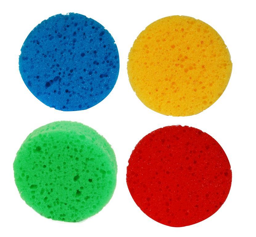 Esponja de banho redonda