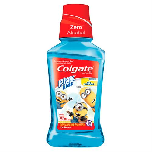 Enxaguante Bucal Colgate Plax Kids Minions Tutti Frutti 250ml